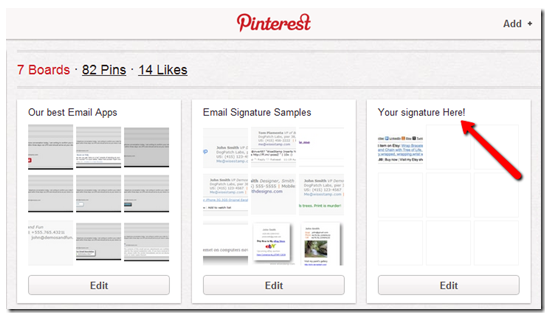 Pinterest Email Signature