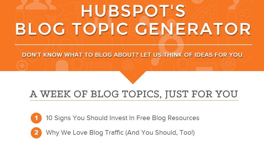Hubspot's headline generator