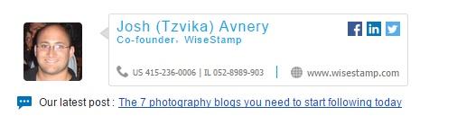 Tzvika signature with blog post