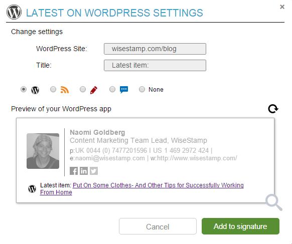 WordPress_blog_email_signature