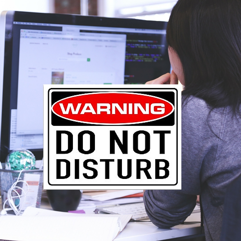 Do not disturb work