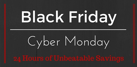 Black Friday banner made with Canva