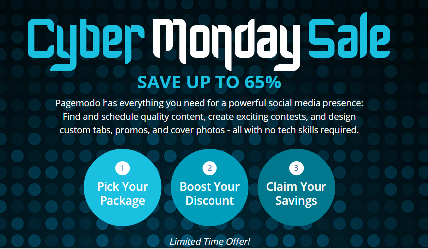 PageModo Cyber Monday deal
