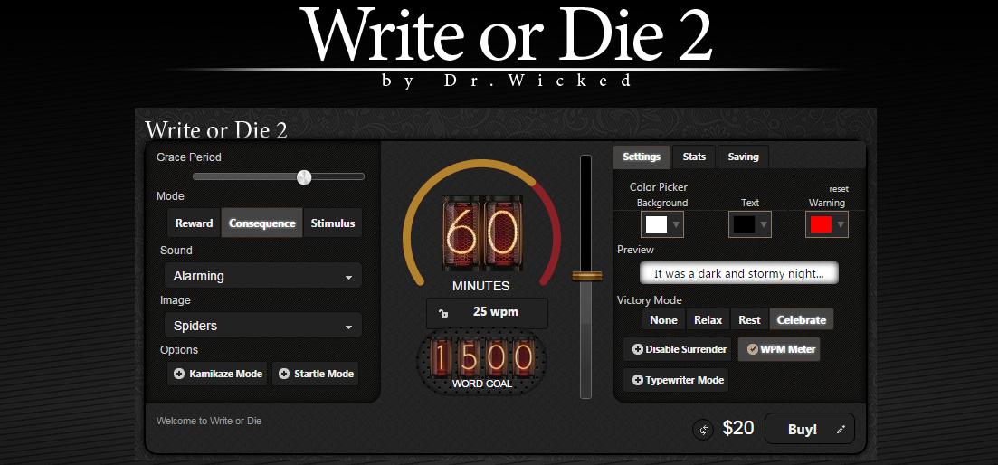 Write_or_die