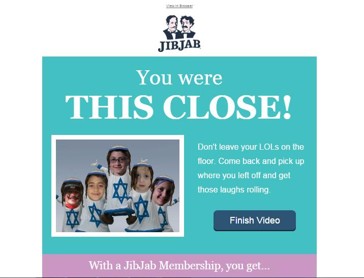 JibJab reminder email