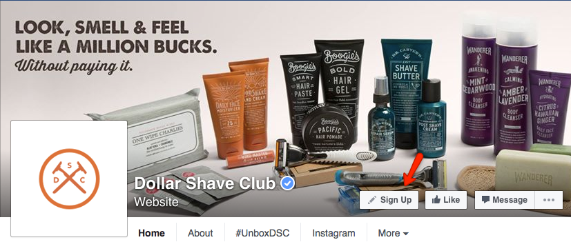 Dollar Shave Club - sign up