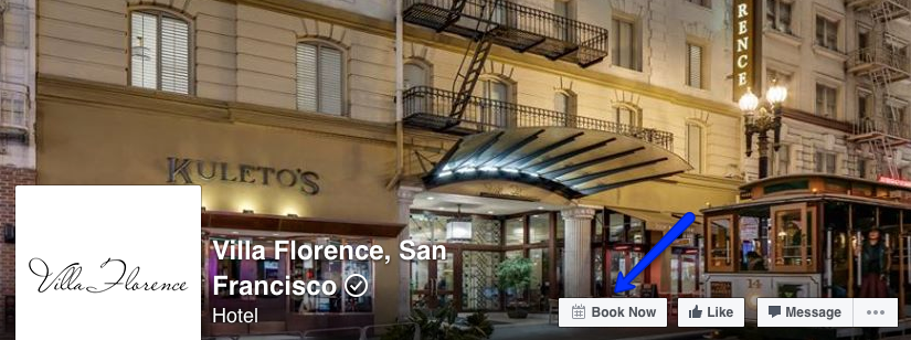 Villa Florence Hotel - Facebook CTA