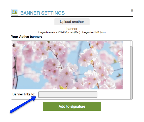 Upload Banner Instructions