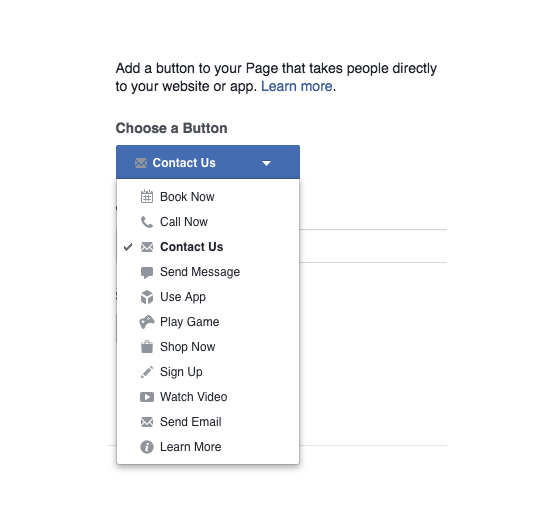 Facebook Calls-To-Action