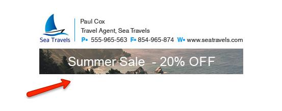 signature - sale promotion banner