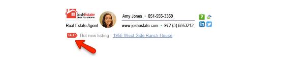 sample sig - real estate agent