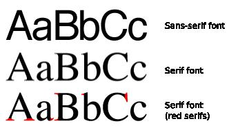 Serif Sans Comparison