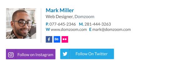 Web Designer Signature Template