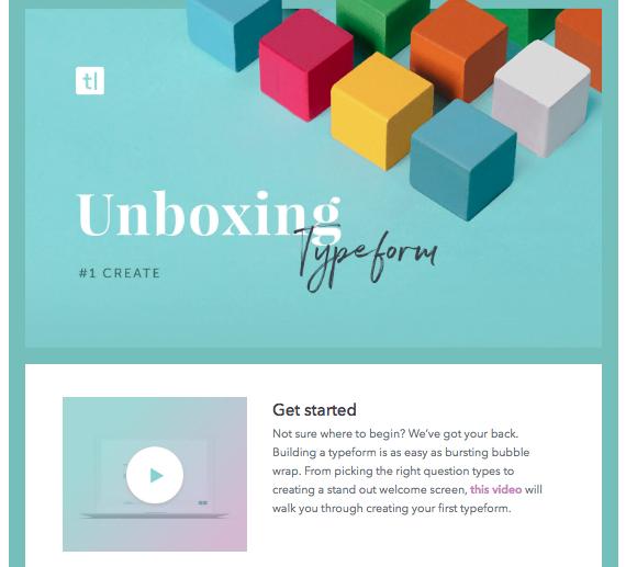Onbaording Typeform unboxing