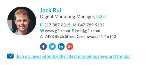 Marketer Join my newsletter