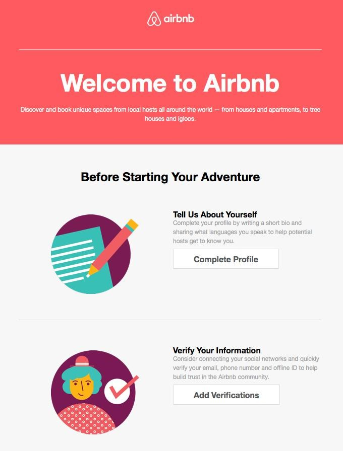 example of how Airbnb send emails