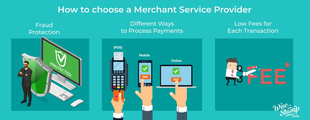 How to choose a merchant service infographic