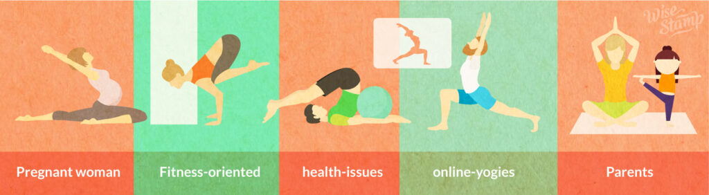 animation of women doing different yoga position
