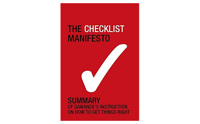 The Checklist Manifesto book cover - best books to read for startup managers