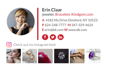 email signature with social media icons