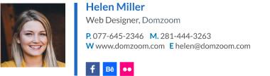 Signature for web designer