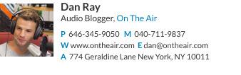 Audio blogger email signature