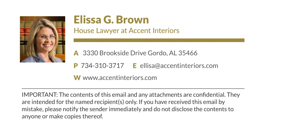 lawyer email signature