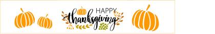 Free happy Thanksgiving pumpkin banner