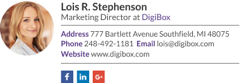 Marketing director signature
