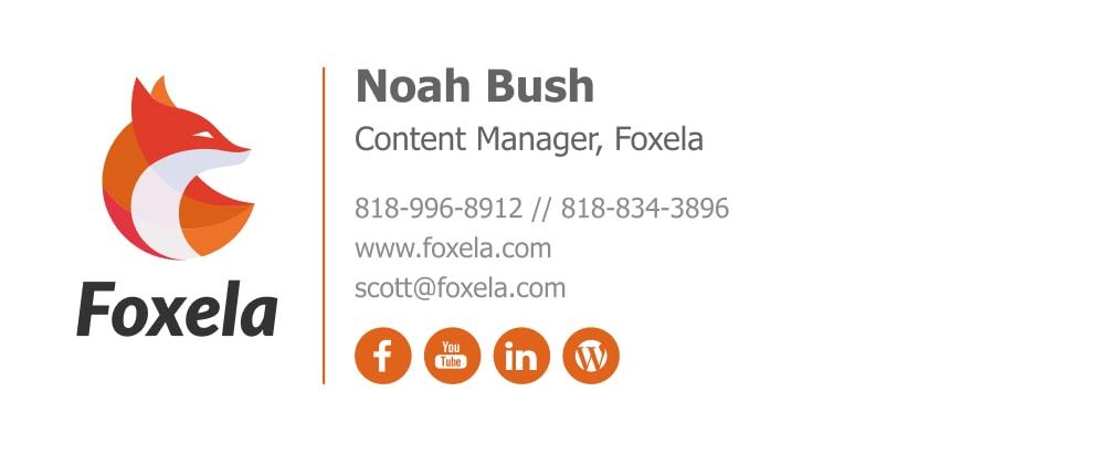 content writer email signature