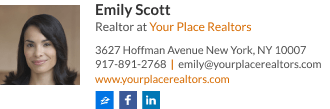 Realestate agent email signature