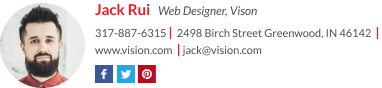 Signature for web designer