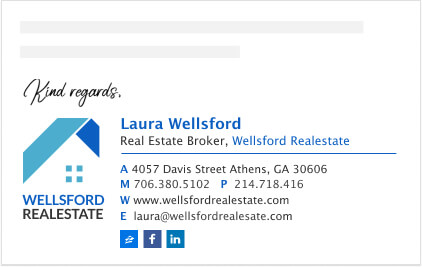 Logo email signature for real estate brokers