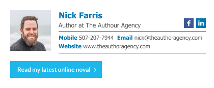 author email signature with custom button