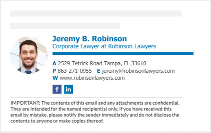 free lawyer email signature example