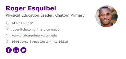 physical education leader email signature