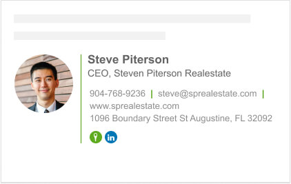 Rounded image email footer block for realestate