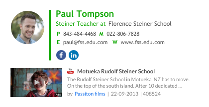 Teacher email signature example with youtube movie