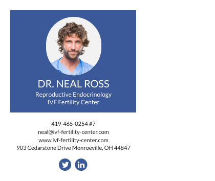 Beautiful email signature for doctors with solid color background