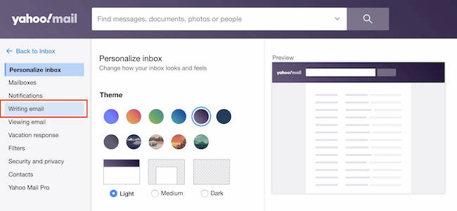 how to add a banner in Yahoo mail signature - step 2