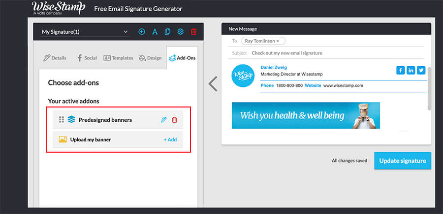 How to create and add a banner to your email signature