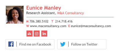 Minimalist professional consultancy email signature footer