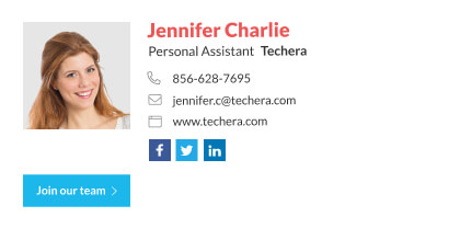 Personal assistant email signature template with custom CTA