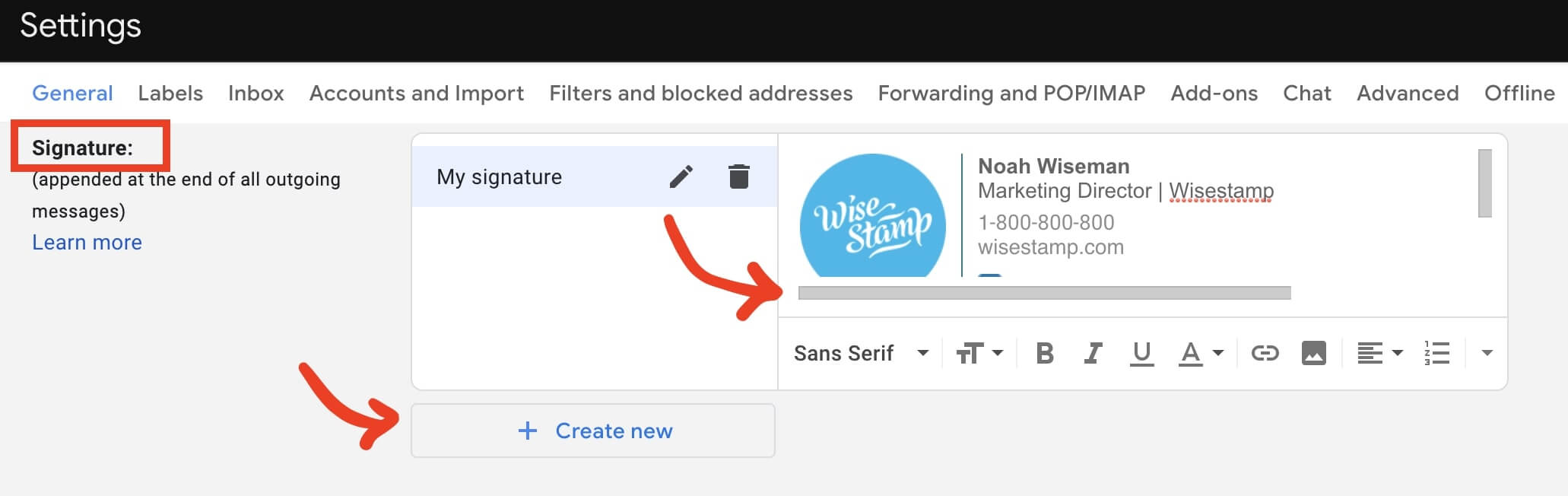 how to add a hyperlink in gmail - step 3