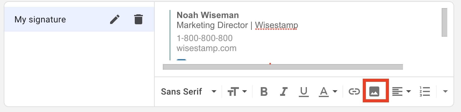 how to add a hyperlink to image in gmail signature