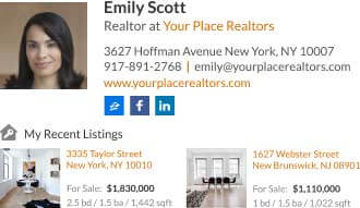 Cool way for realtors to send prospects directly to thair best property from their email signature
