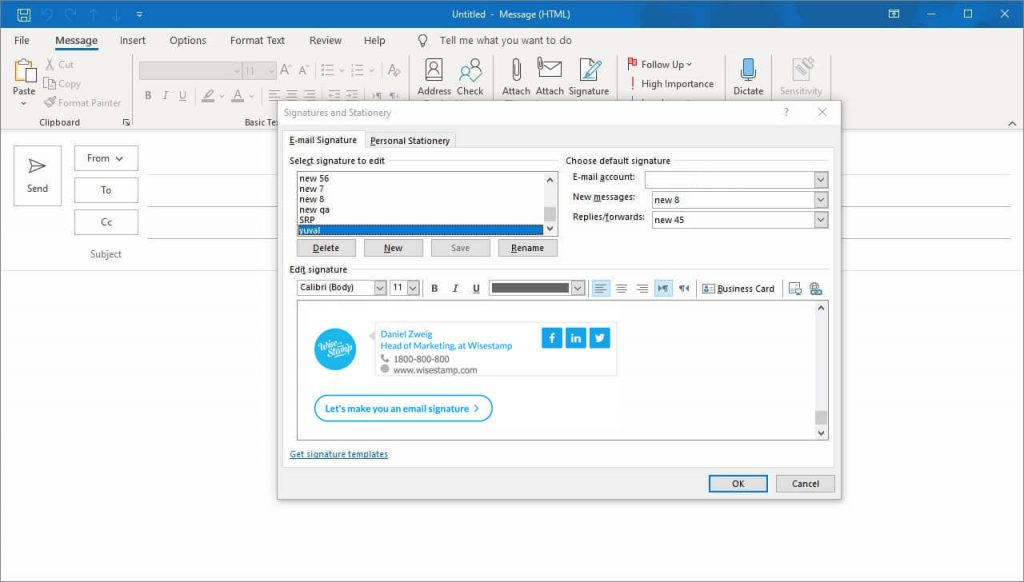 How to edit, update and change your signature in Outlook