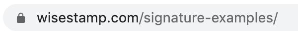 URL wisestamp.com