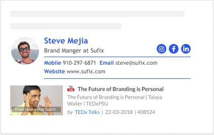 branding video email signature