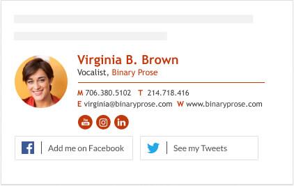 clickable social media buttons email signature